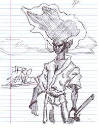 afro samurai sketch by rakimparrish on deviantart
