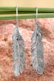silver feather earrings silver feather earrings handmade in india and nickle free