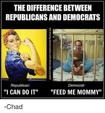 Democrat Memes - the difference between republicansand democrats republican democrat