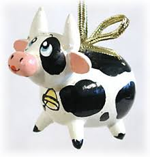 cow ornament at goldencockerel
