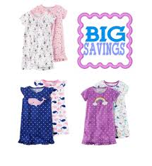 kohl s toddler s 2 pk knee length nightgowns 8 50