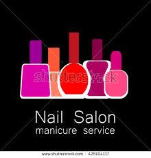 nail salon logo symbol manicure design stock vector 390506242