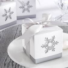 2 x 2 snowflake favor boxes with bows set of 24