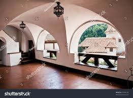 interior bran castle aka draculas castle stock photo 57496198