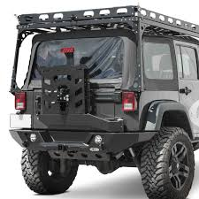 jeep rear bumper with tire carrier lod offroad jbc0740 destroyer full width raw rear hd bumper