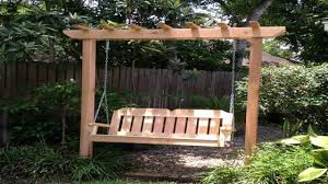 rustic porch arbor swing set plans arbor swing building design