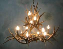lighting faux antler chandeliers small deer antler chandelier