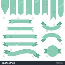 mint green ribbon mint green ribbon banner collection stock vector 532780888