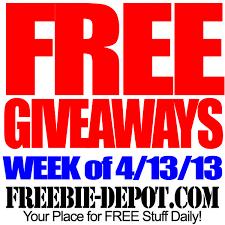 free giveaways week of 4 13 13 freebie depot