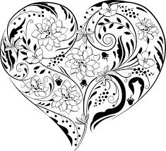 54 best hearts images on pinterest coloring books