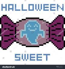 vector pixel art candy halloween isolated stock vector 710118571
