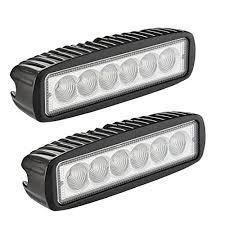 led light bar northpole light 2x 18w flood work light strip jeep