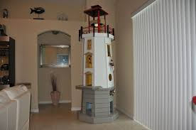 handmade lighthouse cat tower by square paws custommade com