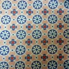 moroccan tile custom digital print moroccan tiles on white suede fabric