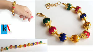 thread bracelet with beads images How to make silk thread bracelets with beads silk thread jpg