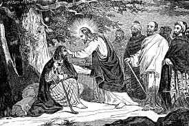 Jesus Healed The Blind Man Jesus Heals A Man Born Blind Clipart Etc