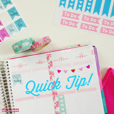 To Do Stickers Diy Weekend Banner With Stickers Quick Planner Tip The Chic Life