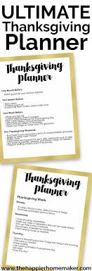 ultimate thanksgiving planner the happier homemaker