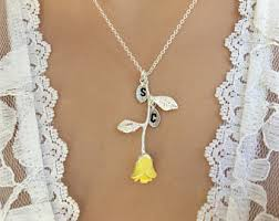 yellow jewelry necklace images Yellow necklace etsy jpg