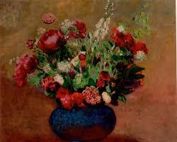 The Blue Vase Epph Redon U0027s Pavots Et Oeillets De Poète U2026 C 1906