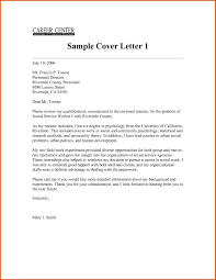 Grant Cover Letter Sample by Social Work Cover Letter General Resumes