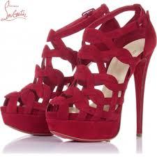 sandales larissa plato 150mm rouge chaussure louboutin soldes