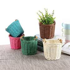 baskets for home decor diy rattan mini decorative wicker baskets weaving storage basket