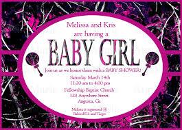 muddy camo baby shower invitation pink muddy baby