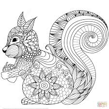 printable coloring pages zentangle lovely squirrel zentangle coloring page free printable coloring