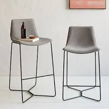 Grey Leather Bar Stool Best 25 Upholstered Bar Stools Ideas On Pinterest Wooden Bar