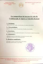 bureau de vote composition la composition du bureau de vote nairobi