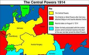 Ottoman Germany Central Powers Germany And Its Allies Austria Hungary Bulgaria