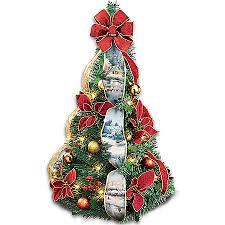kinkade merry miniature 2 ft pre lit pull up tree