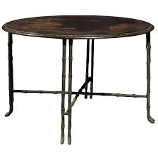 faux bamboo table legs vintage round chinoiserie table with japanning scene and bronze faux