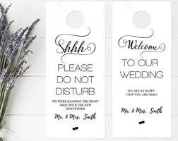 marble wedding door hanger template please do not disturb