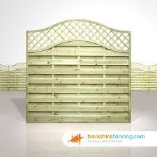 omega lattice top fence panels 6ft x 6ft natural berkshire fencing