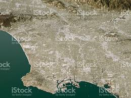 Map Of Beverly Hills Los Angeles by Los Angeles Topographic Map 3d Landscape View Natural Color Stock