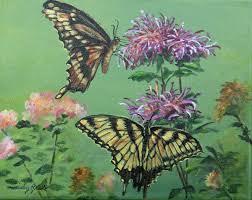 painting butterflies flowers floral paintings shirley reade