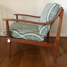 Danish Modern Armchair Mid Century Modern Lounge Chair With Solid Bent Wood Arms Epoch