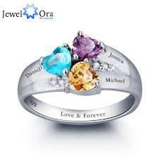 mothers rings cheap aliexpress buy mothers rings personalized engrave heart