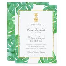 tropical wedding invitations announcements zazzle - Tropical Wedding Invitations