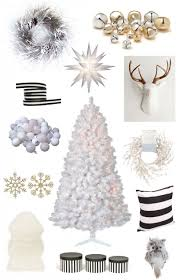 Silver And White Christmas Decorations Black And Gold Christmas Tree Christmas Lights Decoration