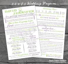 Program Wedding Fun Wedding Programs Wedding Program Printable Wedding Program