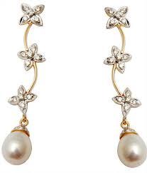 design of earing design flower gold diamond earring jewellery