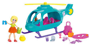 amazon polly pocket vacation helicopter playset toys u0026 games