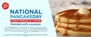 Get Free Pancakes At Participating Your Calendars Ihop National Pancake Day Is Tuesday February