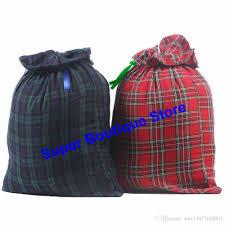 santa sacks 2 styles mixed plaid santa sacks large canvas santa sack christmas