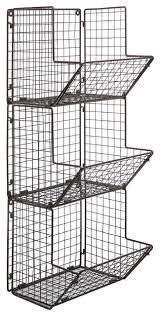 Bathroom Wire Rack Rustic Wire 3 Tier Wall Mounted Kitchen Produce Bin Rack Bathroom