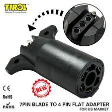 4 way flat light connector tirol 7 way blade to 4 way pin flat trailer wiring adapter trailer