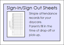 Daycare Sign In Sheet Template Free Daycare Forms